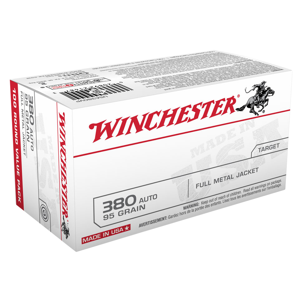 Winchester USA value pack 380 Auto 95gr FMJ