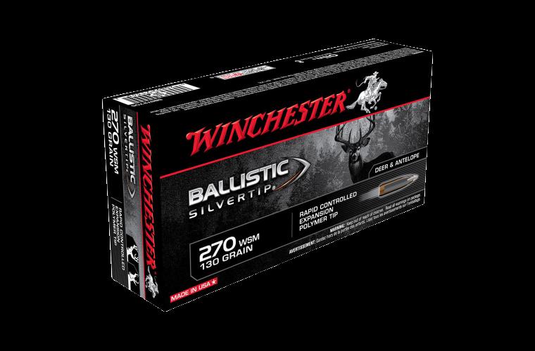 Winchester Ballistic ST 270WSM 130gr PT
