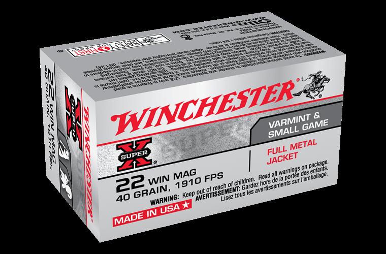 Winchester Super X 22WMR 40gr FMJ
