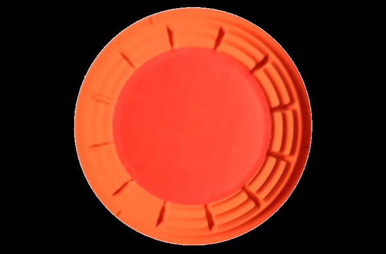 White Flyer Pitch Orange Flash Clay Target 110mm