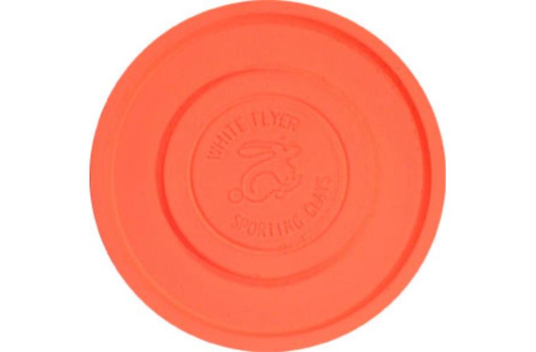 White Flyer Pitch Orange Rabbit Clay Targets