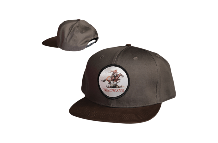 Winchester Snap Back Badge Charcoal