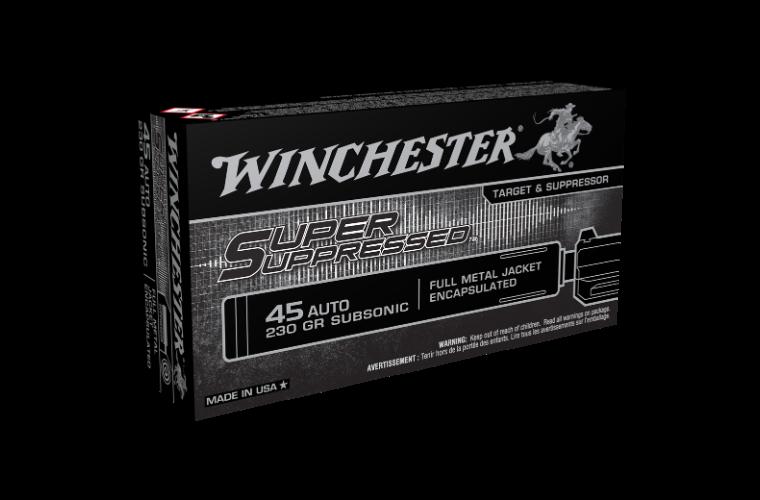 Winchester Super Suppressed 45Auto 230gr FMJ