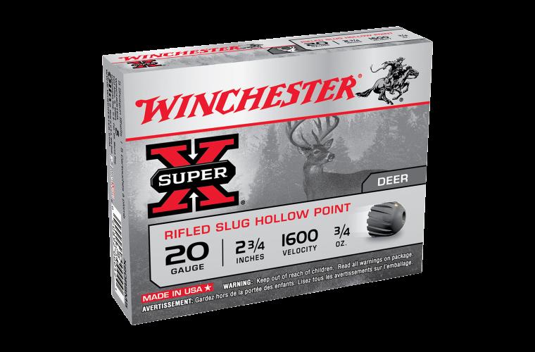 Winchester Super X 20ga rifled slug 2-3/4