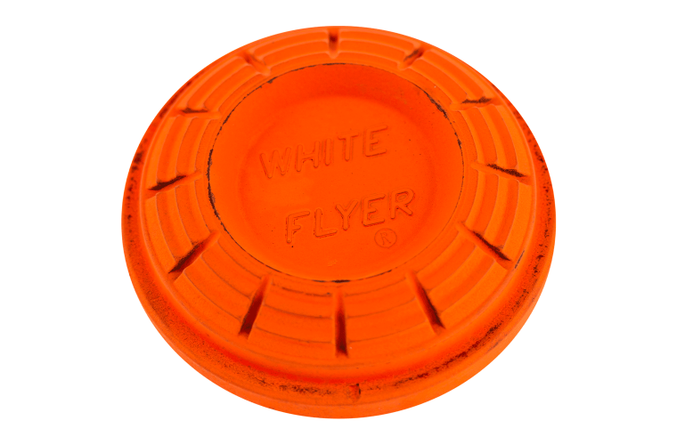 White Flyer Pitch Orange Flash Clay Targets 108mm