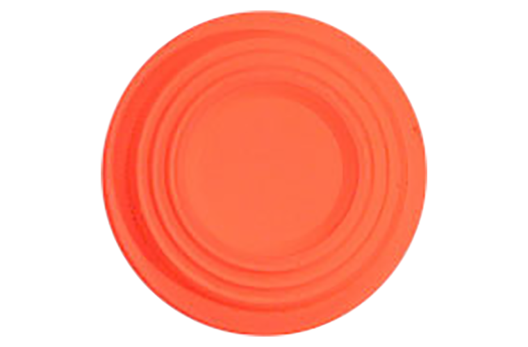 White Flyer Pitch Orange Top Mini Clay Targets