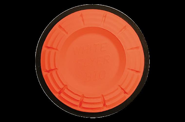 White Flyer Blackout Trap / Skeet Orange Dome Clay Targets