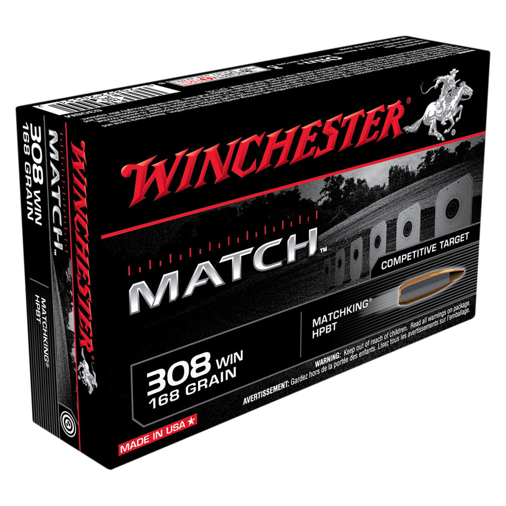 Winchester Match 308Win 168gr Sierra BTHP