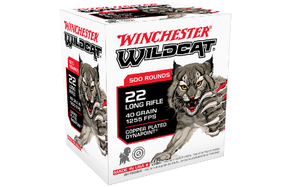 Winchester Wildcat 22LR 40gr Copper Plated Solid