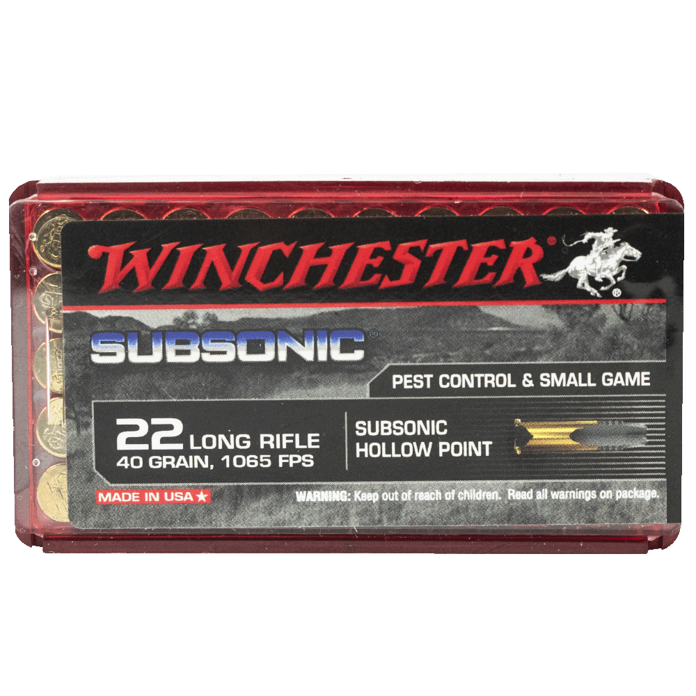 Winchester Subsonic 22LR 40gr HP