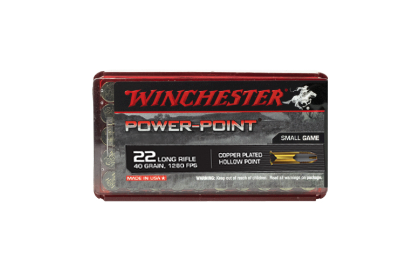 Winchester Power Point 22LR 40gr HP copper plated