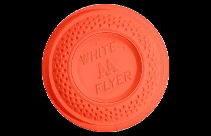White Flyer Pitch Trap / Skeet Orange Top Clay Targets
