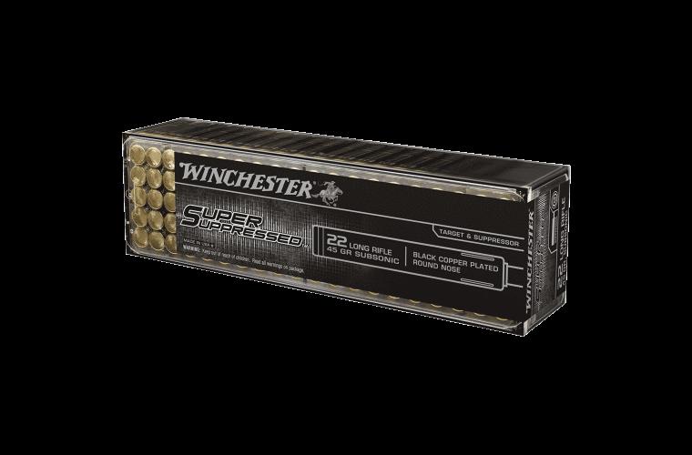 Winchester Super Suppressed 22LR 45gr LRN