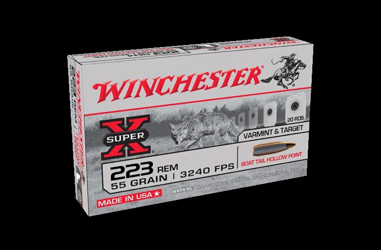 Winchester Super X 223Rem 55gr BTHP