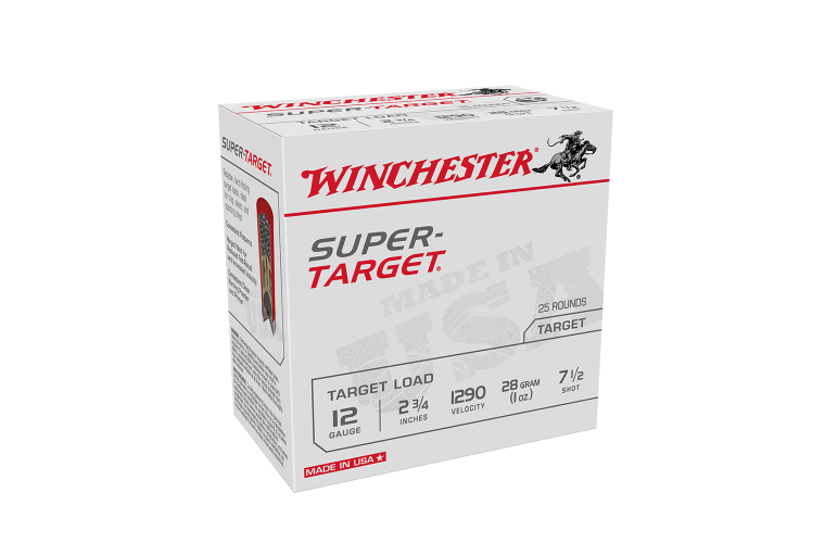 Winchester Super Target 12ga 1290fps 7.5 2-3/4